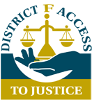 District F Access to Justice Logo